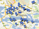 stockholm short term apartment map